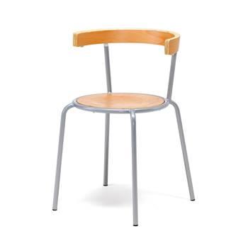 Canteen chair: beech/alu: beech seat