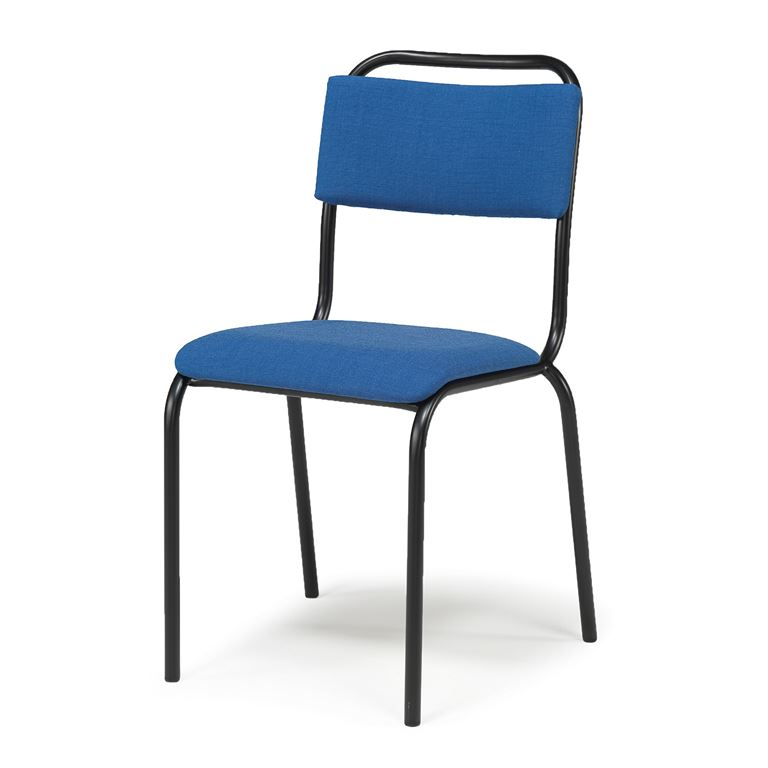 Tuoli, kangas, sininen, musta runko