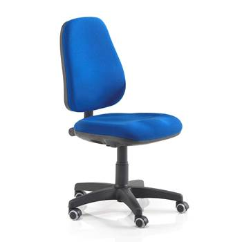 Derry office chair, push button adjustment, H 460-590 mm, blue