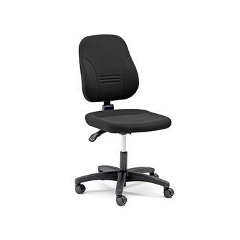 Leeds office chair, molded back and seat, H 405-520 mm, black fabric