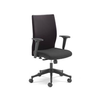 Milton modern office chair, black back