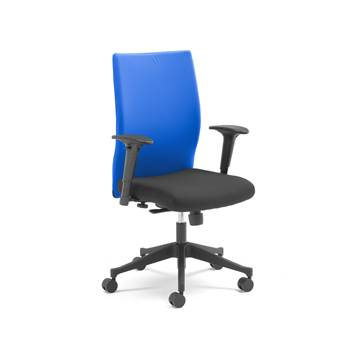 Milton modern office chair, blue back