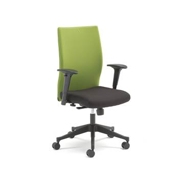 Milton modern office chair, lime back