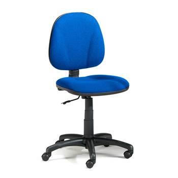 Dover office chair, low back, blue