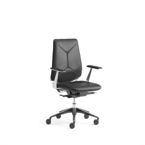 Czarne krzesło biurowe LONDON bez zagłówka