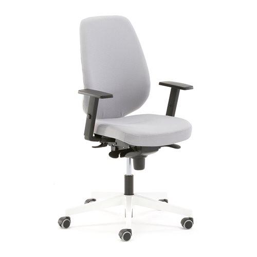 Czarne krzesło biurowe DOVER, wysokie oparcie
