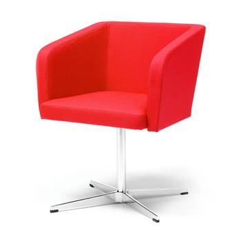 "Conference chair with ""star"" legs : Red"