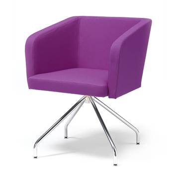 "Conference chair with ""spider"" legs : Purple"