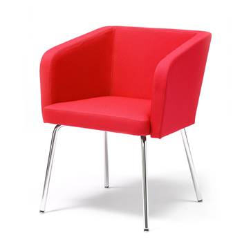 Conference chair with straight legs : Red