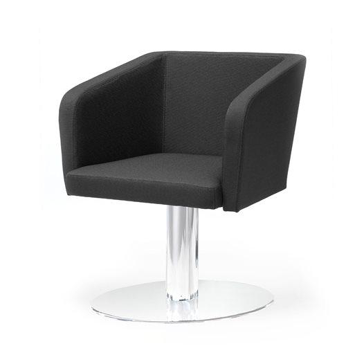 Krzesło konferencyjne: filar, czarne