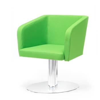 Konferansestol Hello!, med Trompetfot, Grønn