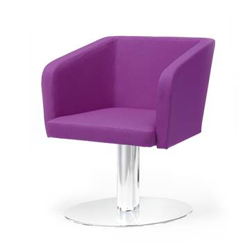Conference chair with round plate: Purple