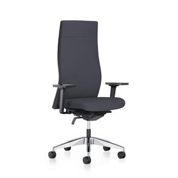 Czarne krzesło biurowe LUTON
