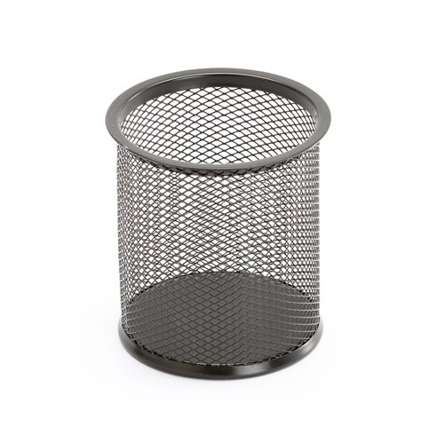 Kosz na śmieci z siatki metalowej czarny