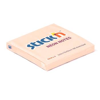 Self adhesive sticky notes, 76x76mm, pink, 100 sheets. Pack of 12.