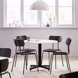 Lunchrumsstol, svart ask