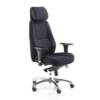 Cardiff office chair, high back, black