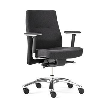 Krzesło biurowe NOTTINGHAM Szaro-czarne