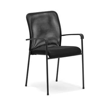 Mesh back conference chair: black