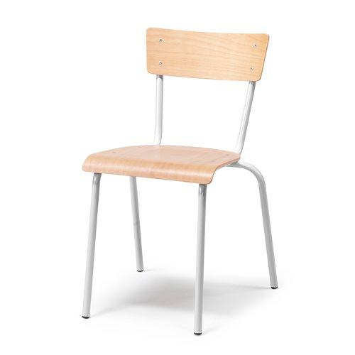 Tuoli, pyökki, hopeanharmaa