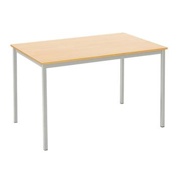 Canteen table, 1200x800x735 mm, beech laminate, alu grey