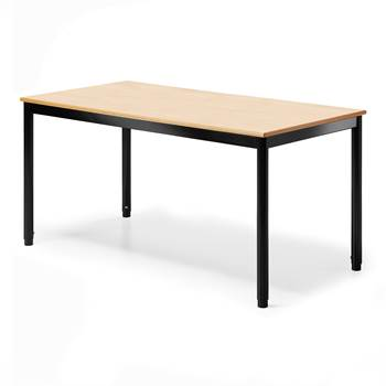 Pöytä 120x70 cm, k72-90 cmpyökki/musta