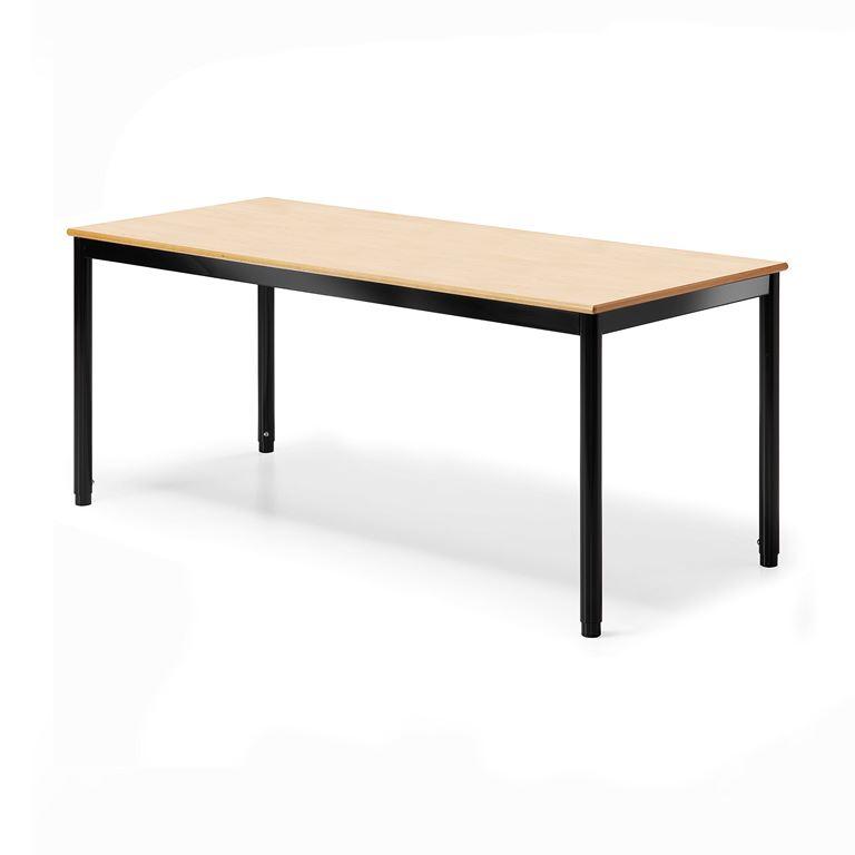 Pöytä Campus, HPL, pituus 1400 mm, Syvyys (mm):700, Musta, P