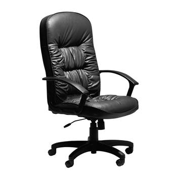 """""""King"""" black leather office chair"""