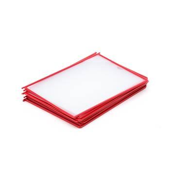 Okładki A4, 10 szt., czerwone
