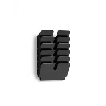Brochure rack: 6 A4 landscape: black