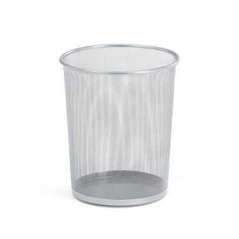 Waste paper basket, Ø 295x355 mm, 20 L, silver