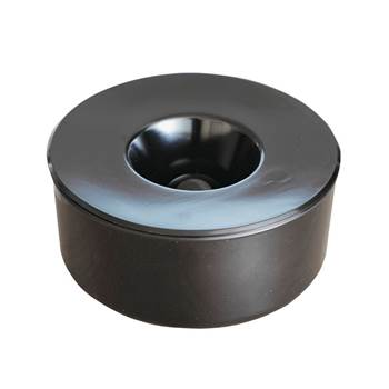 Table ashtray, Ø 130x60 mm, black
