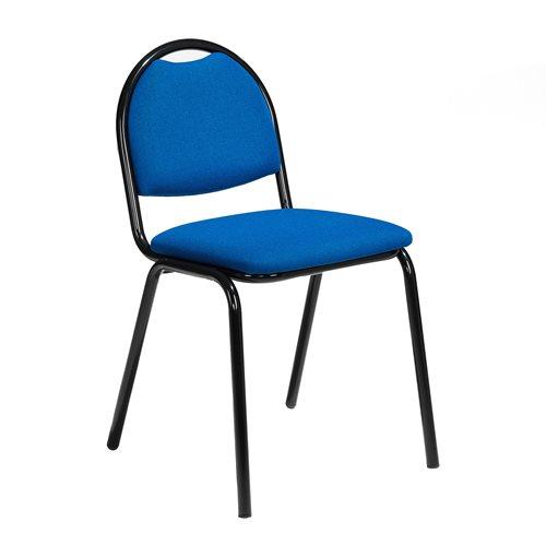 Tuoli, kangas, sininen, musta