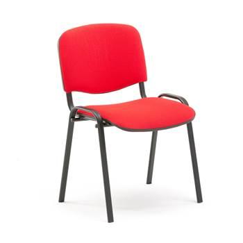 """Konferenču krēsls """"Popular"""", sarkans audums, melns kāju rāmis"""