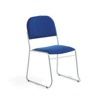 Niebieskie krzesło konferencyjne z ramą aluminium
