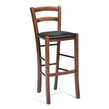Barstol, sitthöjd: 730 mm, valnötsbets, skai
