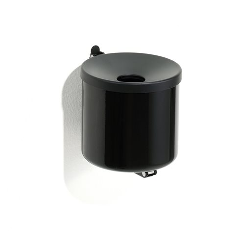 Wall mounted ashtray: black