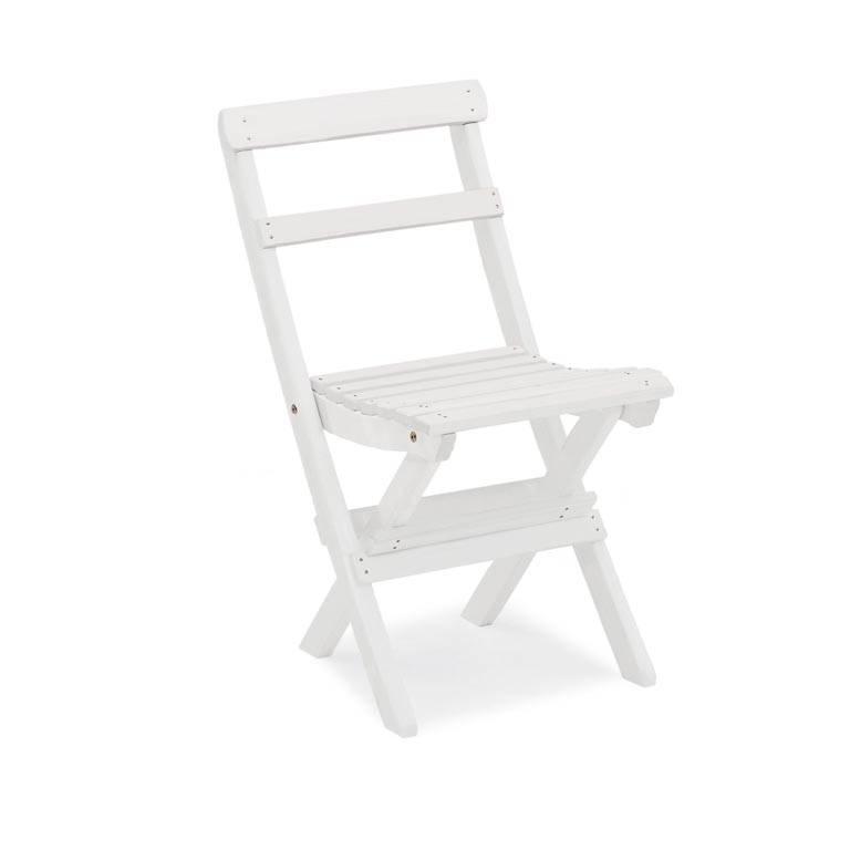 Folding chair: white