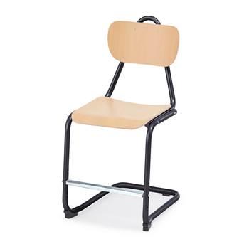 Krzesło Nabal, wysokość: 450 mm, buk, czarny