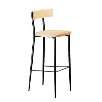 Café bar chair, beech, black lacquer