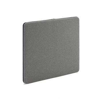 Anslagstavla/ljudabsorbent, 800x650 mm, grå, svart blixtlås