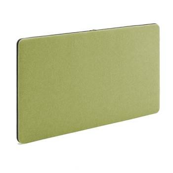 Anslagstavla/ljudabsorbent, 1200x650 mm, grön, svart blixtlås