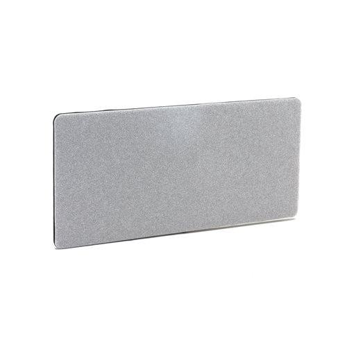 #en Desk screen, 1400x650 mm, light grey with black zipper