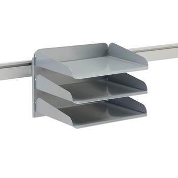 Flersorteringsfack till bordsskärm, silver