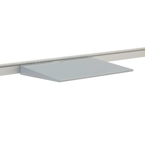 Laptophylla till bordsskärm, silver
