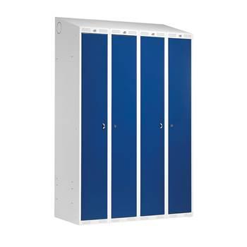 """Combi"" clothes locker: 2 module: W1200: dark blue"