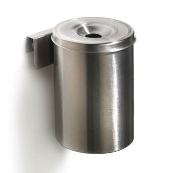 Stainless wall-mounted ashtray, Ø 100x150 mm