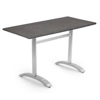 Rektangulärt Cafébord med Spraystoneskiva & aluminiumstativ