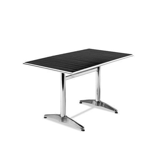 Stół kawiarniany o dł.1200mm z tworzywa sztucznego imitujcego drewno + czarne