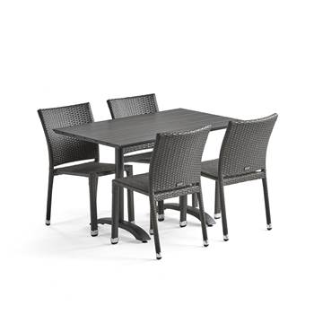 Package deal: Cafe Table + 4 Cafe Chairs